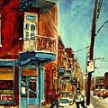 Wilensky's Corner Fairmount And Clark by Carole Spandau
