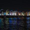 Willemstad Curacao At Night by Kenneth Lempert