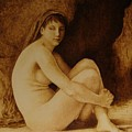 William Bouguereau Seated Nude  by Jo Schwartz
