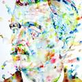 William Faulkner - Watercolor Portrait.4 by Fabrizio Cassetta
