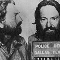 Willie Nelson Mug Shot Horizontal Black And White by Tony Rubino