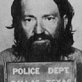 Willie Nelson Mug Shot Vertical Black And White by Tony Rubino