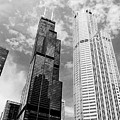 Willis Tower With Clouds by Michelle Calkins
