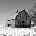 Willow Barn Bw by Bonfire Photography