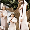 Willow Tree Nativity At Christmas by Steven Jones