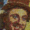 Willy Wonka Fizzy Lifting Bottle Cap Mosaic by Paul Van Scott