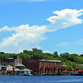Wilmington Riverwalk From The Sea by Roberta Byram
