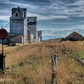 Wilsall Grain Elevators by Dave Rennie