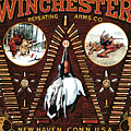 Winchester W Cartridge Board by Unknown