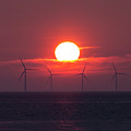 Wind Farm Sunset by Beverly Cash