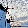 Wind Mills Of Mykonos by Linda Pulvermacher