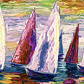 Wind On Sails Panorama by OLena Art Brand