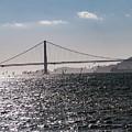 Wind Surfing Under The Bridge by Andrew Hollen