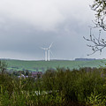 Windfarm Through The Trees by Scott Lyons