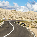 Winding Road On The Pag Island In Croatia by Didier Marti