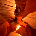 Winding Through Antelope Canyon by Adam Jewell