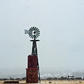 Windmill And Water Tanks by David Arment