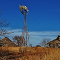 Windmill At An Old Farm In Kansas by Greg Rud