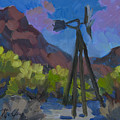 Windmill At Keys Ranch Joshua Tree by Diane McClary