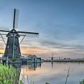 Windmill At Kinderdijk by Frans Blok