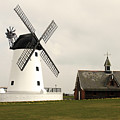 Windmill At Lytham St. Annes - England by Doc Braham