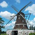 Windmill In Fleninge,sweden by Amanda Mohler