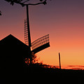 Windmill In The Afterglow. by David Freuthal