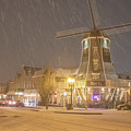 Windmill In The Snow by Randy Small