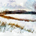 Windmill In The Snow by Valerie Anne Kelly