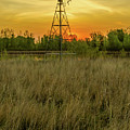 Windmill On The Prairie by Lowlight Images