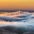 Windmills And Hills by Marc Crumpler
