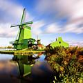 Windmills In Zaanse Schans - Netherlands by Nico Trinkhaus