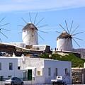Windmills Mykonos by Ron Koivisto