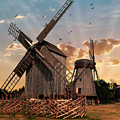 Windmills Of Estonia by Jaroslaw Blaminsky
