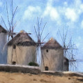 Windmills Of Mykonos by Lois Bryan
