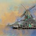 Windmills Of Zaanse Schans by Eva Lechner