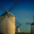 Windmills Under Blue Sky by Heiko Koehrer-Wagner