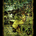 Window - Lady In Garden by Shirley Heyn