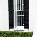 Window And Black Shutters by Karen Adams