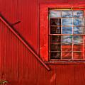 Window In Red by Clayton Brandenburg