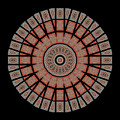 Window Mosaic - Mandala - Transparent by Nikolyn McDonald