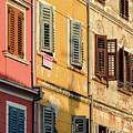 Windows Of Rovinj, Istria, Croatia by Global Light Photography - Nicole Leffer