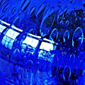 Windows Reflected On A Blue Bowl 3 by Sarah Loft