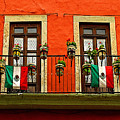 Windows With Flags by Mexicolors Art Photography