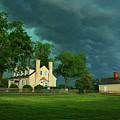 Stormy Evening At Windsor Castle Park Manor House  by Ola Allen