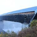 Windsor Cornish Covered Bridge Fog by John Burk