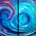 Windswept Blue Wave And Whirlpool 2 by Nancy Mueller