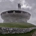 Windy And Cloudy Day At Buzludzha by Jaroslaw Blaminsky