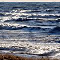 Windy Spring Lake Huron by John Scatcherd