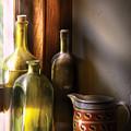 Wine - Three Bottles by Mike Savad